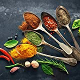 Eurographics, DG-DC1178 Colorful Spices on Spoons I 30x30 Glasbild, Glas, Bunt, 30 x 30 x 2 cm -