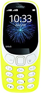 "Nokia 3310 3G - Unlocked Single SIM Feature Phone (AT&T/T-Mobile/MetroPCS/Cricket/Mint) - 2.4"" Screen - Yellow - U.S. Warranty"