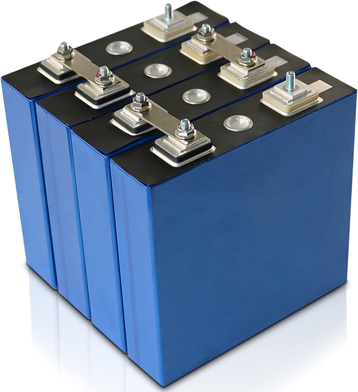 LONGRING 3.2V 100AH LIFEPO4 Batería de Litio 4pcs / 8pcs 3.2V 3C Batería de fosfato de Hierro de Litio para 12V 24V Battery Inverter Vehículo RV,16pcs