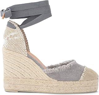 Castañer Sandale avec Semelle Compensée Catalina en Toile Et Jute, Taille UK: