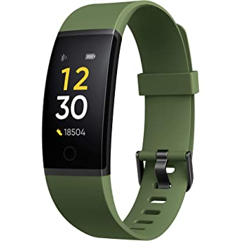realme Band (Green) - Full Colour Screen with Touchkey, Real-time Heart Rate Monitor, in-Built USB Charging, IP68 Water Resistant