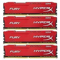 キングストン Kingston デスクトップ オーバークロック PCメモリ DDR4-2666 8GBx4枚 HyperX FURY CL16 1.2V HX426C16FR2K4/32 永久保証