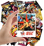 Large Stickers (24 pcs 2.5'x3.5') Bruce Lee and Chuck Norris Kungfu Vintage Trash Movie Posters Ads