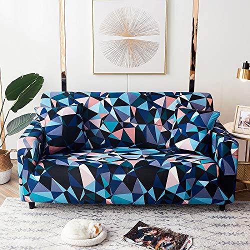 PPMP Fundas de sofá geométricas elásticas Fundas de sofá elásticas para Sala de Estar Funda de sofá Silla Funda de sofá Decoración del hogar Funda de sofá A9 3 plazas