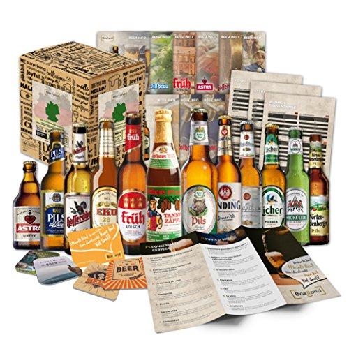 Biergeschenk Box (12 Bier-Spezialitäten) im Geschenkkorb für Männer - Geburtstagsgeschenk zum Geburtstag, originelle Hochzeitsgeschenke, Geschenkidee für Männer, Männertag