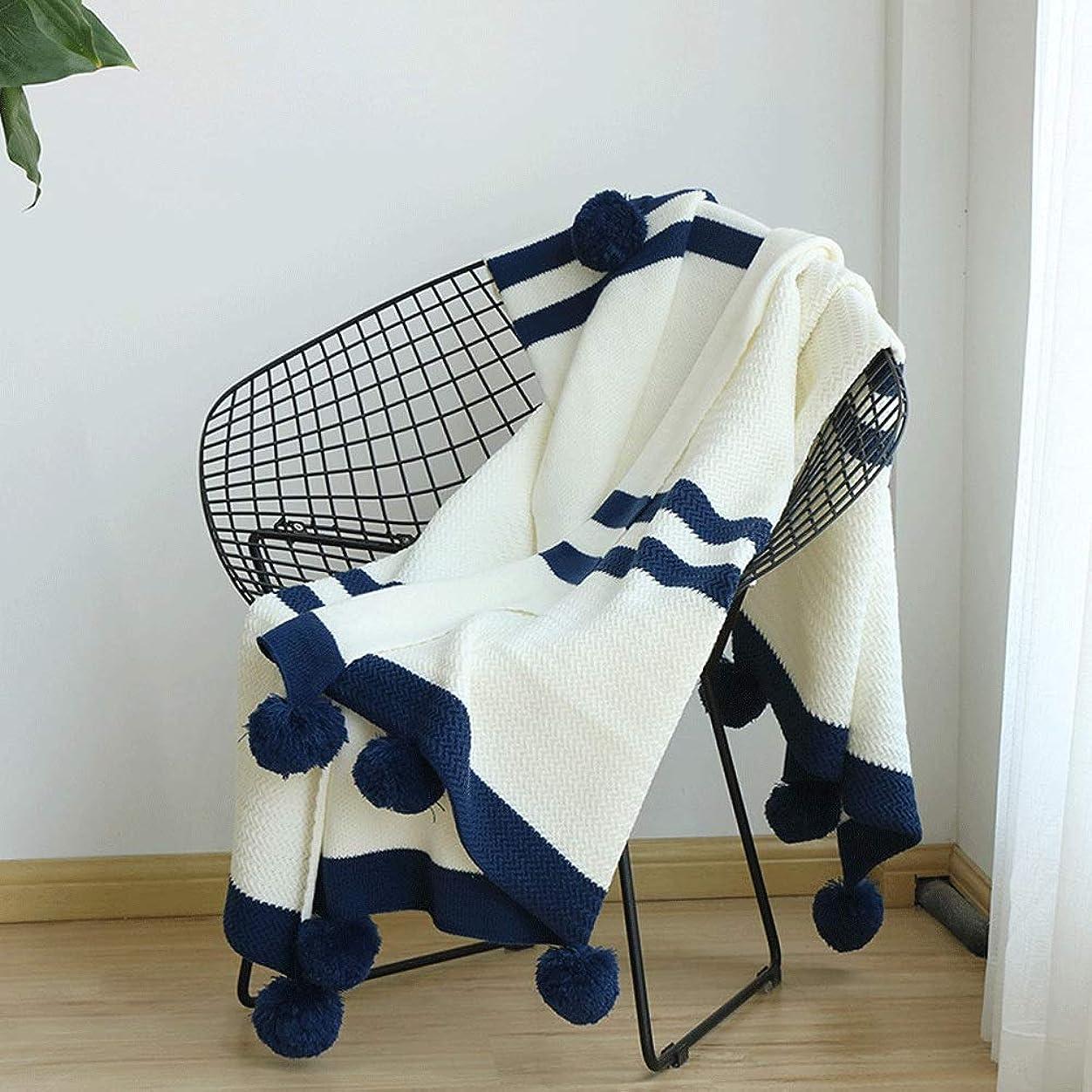 オッズ奨学金煙多機能 ソファー ブランケット ソファーのソファーベッドの旅行のための縞のニット毛布大人のためのオールシーズンニット投球毛布 (Color : White, Size : 130cmx160cm)