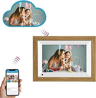 Yxs Marco de Madera Digital con 10,1 Pulgadas IPS Pantalla táctil, 16 GB, Sensor de Movimiento, Compartir Fotos o vídeos Desde Cualquier Lugar por Mobile App/Email/Facebook/Twitter