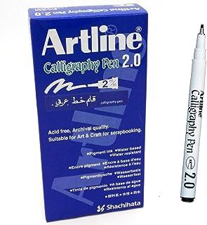 Artline Calligraphy 2.0 mm Pen - Black - Pack 12 pen