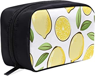 Flowering Lemon Woody Plant Portable Travel Makeup Cosmetic Bags Organizer Multifunction Case Small Toiletry Bags For Women And Men Brushes Case