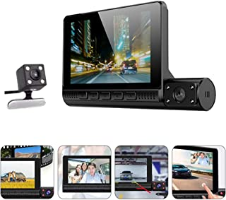 GARNECK Câmera veicular, 1080p, gravador de direção de carro, câmera frontal sensível ao toque, câmera de carro para detec...