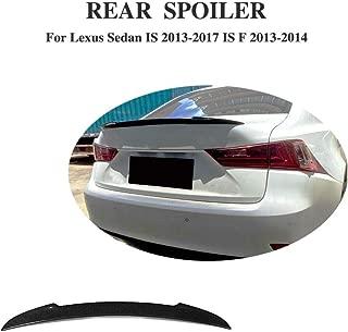 JC SPORTLINE is ISF Boot Lip, Fits for Lexus is IS200t IS250 IS300 IS350 2013-2018 is F-Sport 2013 2014 Carbon Fiber Rear Deck Lip Spoiler CF Tail Wing