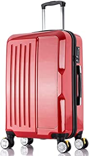 XLHJFDI Lightweight Laptop Case Trolley Travel Carry-on Luggage   Bussiness Small Suitcase Bag, 4 Wheels,pc,with TSA Lock(20inch) (Color : Red)