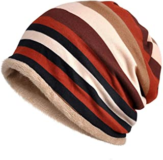 Solid Color Chemo Caps Cancer Headwear Skull Cap Knitted hat Scarf for Womens Mens 2pack