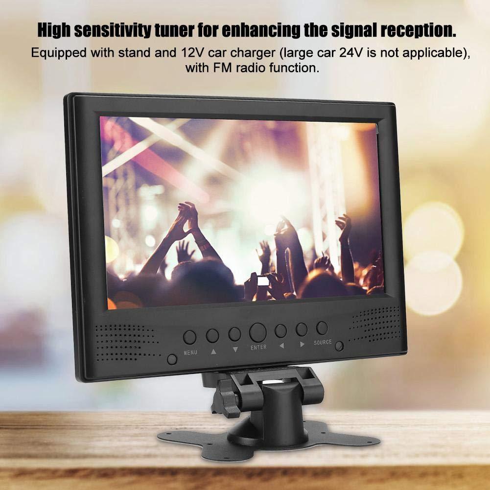 Ccylez Mini HD Televisor Digital de 9 Pulgadas con USB, TV Portátil de DVB-T T2 con Funciones de Radio y Grabación de Video, TV Digital con Batería de GAN Capacidad de 1500