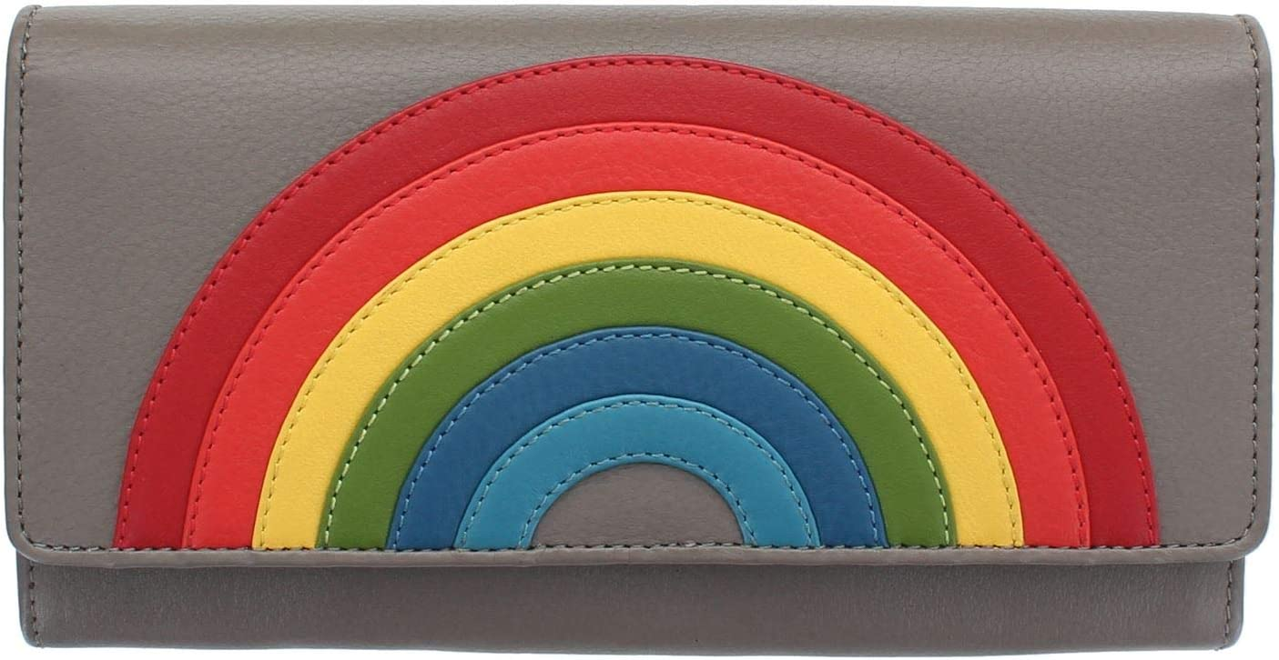 Visconti Happy Rainbow Collection Phoebe Leather Purse RFID HR80 Taupe
