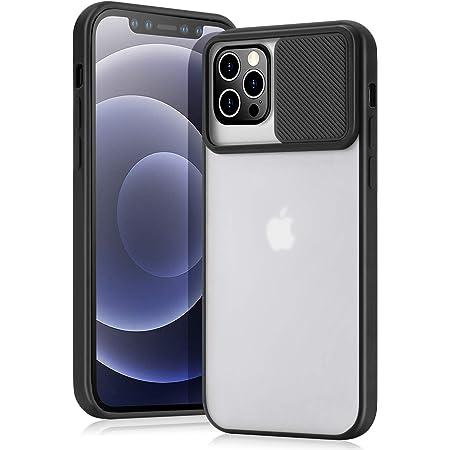 AHABIPERS- Custodia per iPhone 12 Pro/iPhone 12 Case, [Protezione Fotocamera] Bumper Protettiva Ultra Sottile Leggero Custodia Anti Graffio Hard PC Case Back Cover -Nero (6.1'')