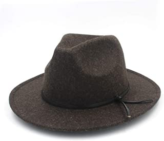 SHENTIANWEI Fashion Men Women Fedora Hat Wide Brim Church Hat Pop Panama Hat Outdoor Travel Fascinator Casual Hat Size 56-58CM