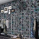 ACCEY Papel pintado moderno simple del alfabeto inglés Estilo nórdico Sala de estar Dormitorio Tienda de ropa Papel pintado Café dedicado Mujeres A2502