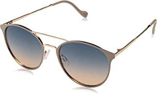 Women's J5564 Round Mixed Metal Sunglasses with Metal...