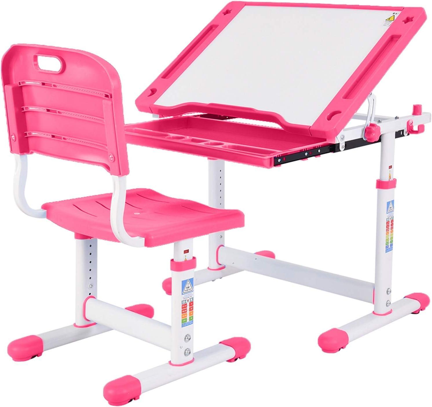 EWGQWB Adjustable Height Kids Desk Chair - Discount is also underway St Set Max 86% OFF School Child