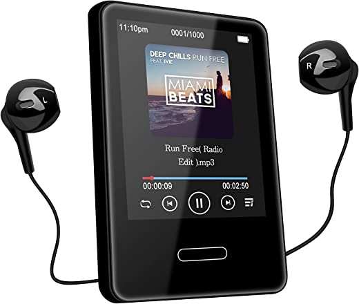 MP3 Music Player with Bluetooth: 16GB Portable Touchscreen MP3 Player Lossless Sound Hi-Fi Music Player for Walking Running with FM Radio -...