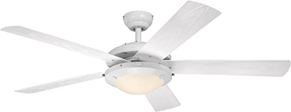 Westinghouse Lighting 7200800 Comet Indoor/Outdoor Ceiling Fan with Light, White