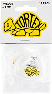 Dunlop 424P.73 Tortex Wedge, White/Yellow, .73mm, 12/Player's Pack