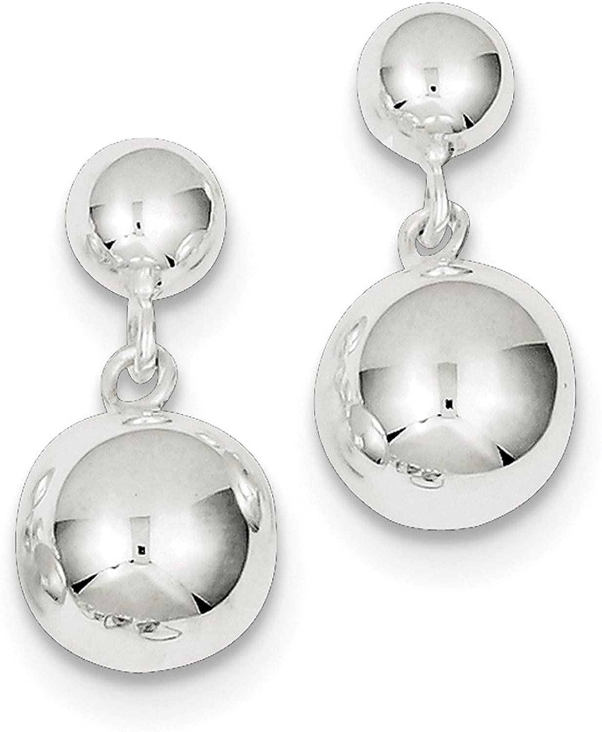 Beautiful Sterling silver 925 sterling Sterling Silver Round Bead Dangle Post Earrings