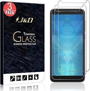 J&D kompatibel med 3-pack Alcatel 1X/Alcatel 1X Evolve glasskärmskydd, [härdat glas] [Inte full täckning] ballistiskt glas...