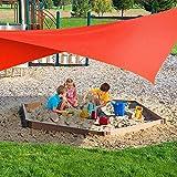 TOSBTD Vela De Sombra Impermeable, 95% De Protección UV, Utilizada para La Decoración De Pérgola De Jardín De Patio Al Aire Libre,5x5x7m