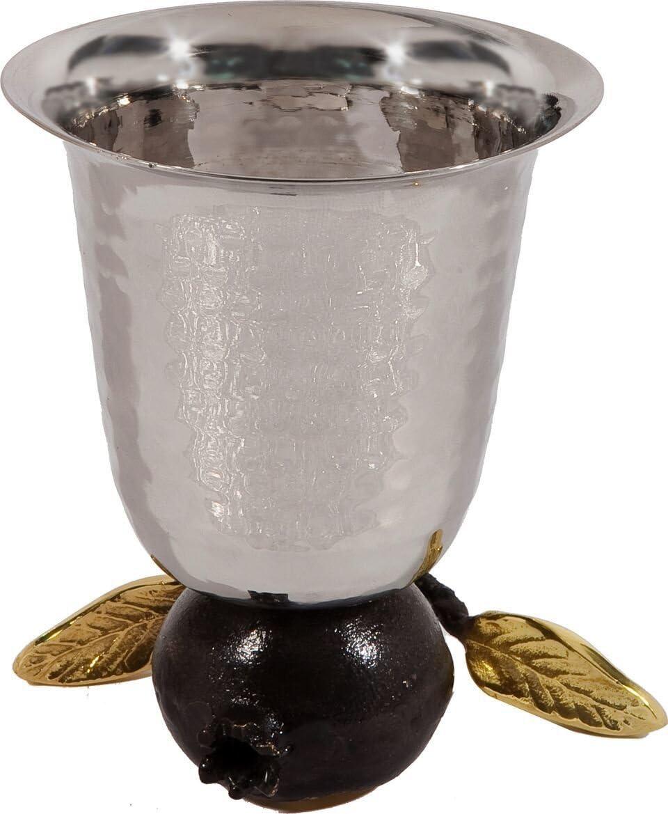 Yair Emanuel Reversible Hammered Bargain sale Pomegranate on Cup online shop Kiddush