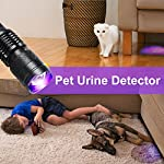 UV Torch,Black Light Torches Small Hand Held Ultraviolet 395nm LED Flashlight,Pet Dogs & Cats Urine Detector, UV Lamp for Fluorescent Agent Inspection,1 x AA Battery Included 11