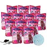 Lyra Pet® 12 x 5 L = 60 L Cats Power Silikat Katzenstreu Katze Streu + 2 Mäuse