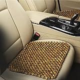 YJZQ - Coprisedili in legno con sfere di protezione, per sedile anteriore, cuscino di seduta confortevole, per poltrona