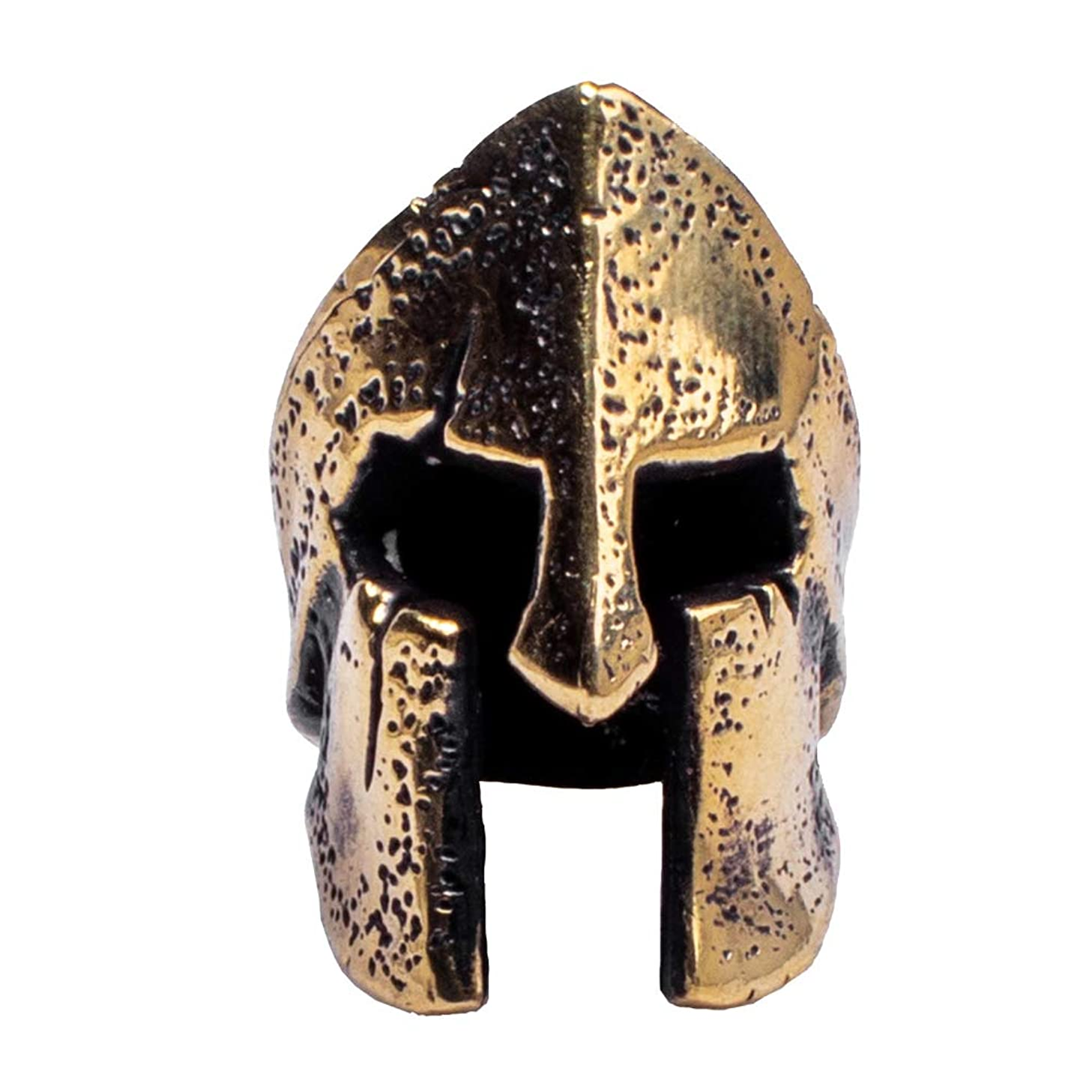 Metalfable Corinthian Helmet Paracord Bead Hand-Casted, Brass Charms EDC Accessories for Pendant Buckle,Keychain Pendant,Knife Lanyard,Zipper Pull