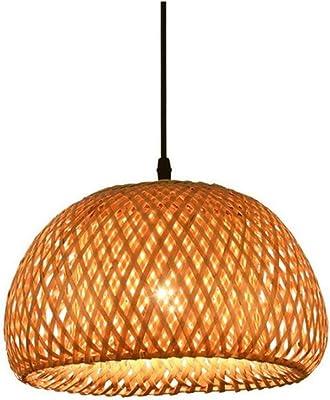 Retro Light Single Head Bamboo Chandelier Rattan Art Lighting (Lampshade High:20 CmLampshade Diameter