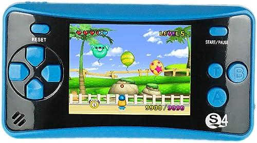 QINGSHE QS-4 Consoles de Jeux Portables, Console de Jeux Retro FC Game Console 2.5 Pouces TFT Écran 182 Rétro Classiq...