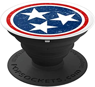 Distressed TriStar - Tennessee Volunteer State Flag - PopSockets Grip and Stand for Phones and Tablets