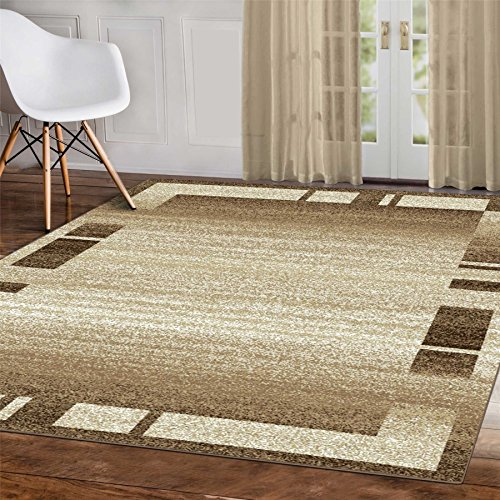 A2Z Rug Palma-9958 Modern Geometric Beige 120x170cm - 3'11'x5'7'ft Contemporary Area Rugs