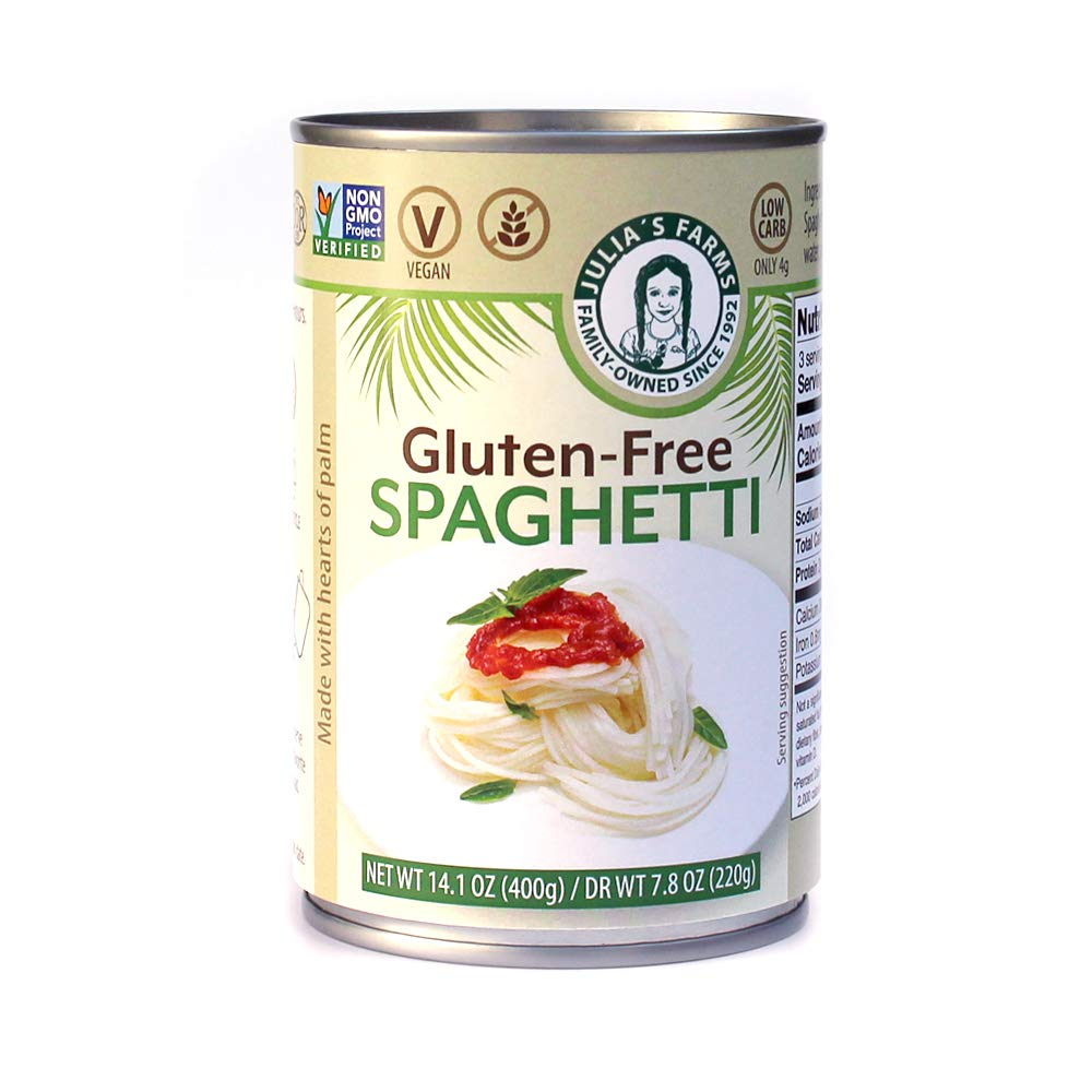 Julia's Farms Gluten-Free Spaghetti 9 Sp Palm 2021 spring and summer new of Hearts Bargain Cans