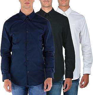 Guess Camisa de hombre de algodón de popelina