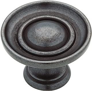 Martha Stewart Living 1-1/2 in. Soft Iron Saucer Cabinet Knob