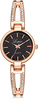 Hot Sale!! Siviki Lvpai Women's Small Round Wrist Watch for Dress Rose Gold Crystals Analog Quartz