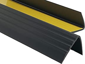 PVC Treppenkantenprofil Selbstklebend Winkelprofil Anti-Rutsch Treppenkante 41x25mm 1,50m Hellgrau