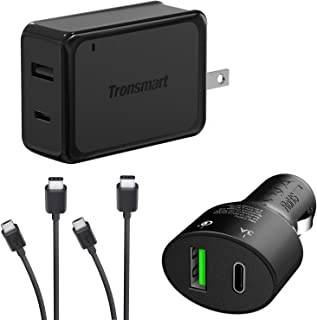 Turbo Quick Wall and Car Charger Kit for Huawei Ascend Y550 with MicroUSB & USB Type-C Cables! (33Watts)