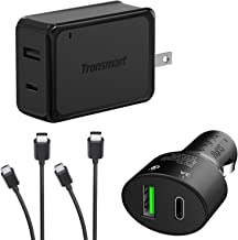Turbo Quick Wall and Car Charger Kit for LG Magna with MicroUSB & USB Type-C Cables! (33Watts)