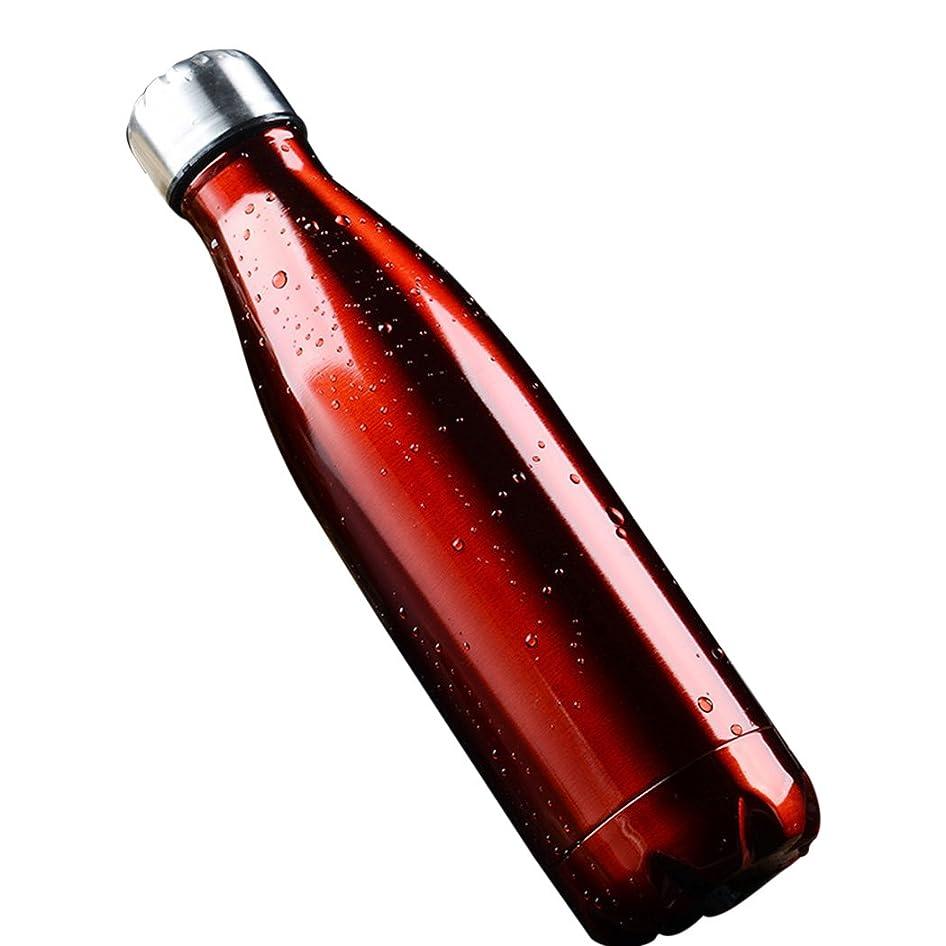 聖職者流行している必要mioim 350ml 750ml 1000mlスポーツボトル ステンレス鋼 水筒 保温 2重 真空断熱 ダブルステンレスボトル (500ml, レッド)