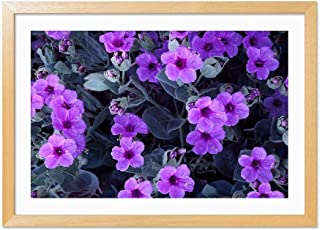 Four Oclock Flowers Wood Color Frame Art Print Poster, Home Wall Decor(16x24 inch)