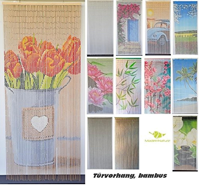 Bambusvorhang Türvorhang, Insektenschutzvorhang, 90cm x 200cm mit Aufhngeleiste, Innen und auen, mehrere Modelle, von MadeInNature (Modèle 6 Champêtre)