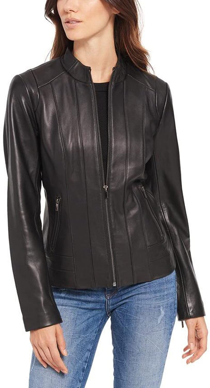 Koza Leathers Women's Lambskin Leather Jacket WC006